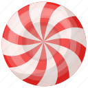 candy, candy swirls, game food, sweet, toffy icon