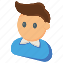 cartoon, game character, human avatar, male human, young boy icon