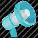 bullhorn, loudhailer, megaphone, megaphone clipart, speaker icon