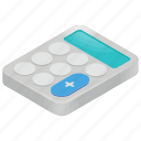 accountant calculator, calculator, graphing calculator, mathematicians tool, texas instrument icon
