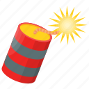 bomb, computer game, explosive, firecracker, video game icon