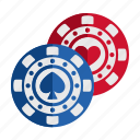 casino, chips, gambling, game, play icon