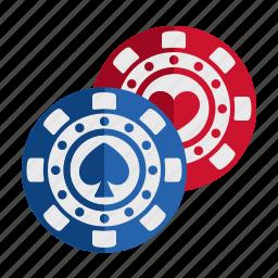 casino, chips, gambling, game, play icon