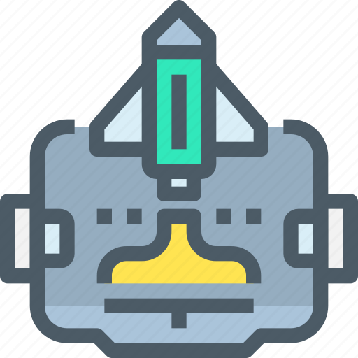 entertainment, game, rocket, space, technology, vr icon