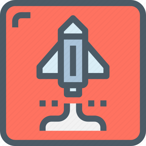 entertainment, game, play, rocket, space, startup icon