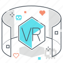 3d glasses, augmented reality, computer, gaming googles, virtual reality, vr game, vr glasses icon