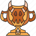 achievement, cup, gemstone, reward, trophy icon