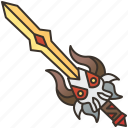 armor, attack, blade, sword, weapon icon