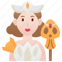 beauty, character, games, princess, queen icon