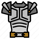 armor, battle, fighter, protection, shield, warrior icon