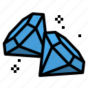 crystal, diamon, gem, jewel, stone, treasure icon