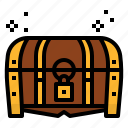 bandits, box, lock, pirate, treasure, treasuty icon