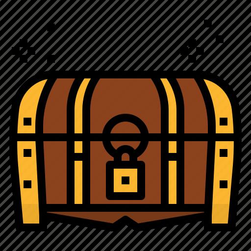 bandits, box, lock, pirate, treasure, treasuty icon