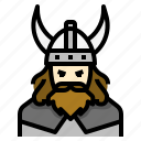 avatar, battle, hammer, helmet, user, vikings, warrior icon