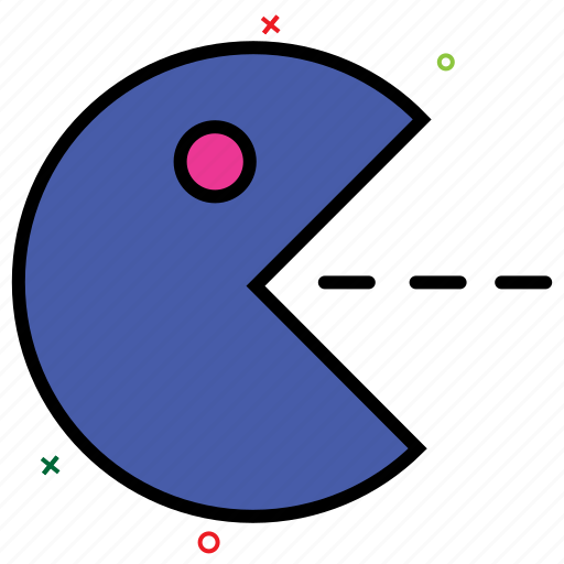 bubble eat game, bubble game, computer game, entertainment, pacman, video game icon