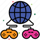 computer game, globally connected, indoor game, internet games, online games, video game icon