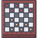 board, checkers, fun, game, party icon