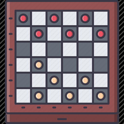 board, checkers, fun, game, party icon