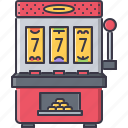 casino, fun, game, machine, party, slot icon