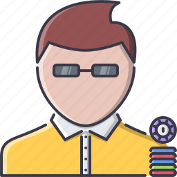casino, chips, fun, game, party, player icon