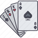 cards, casino, fun, game, party icon