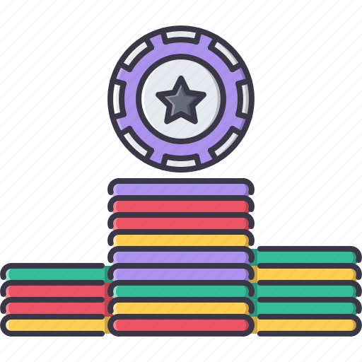 casino, chips, fun, game, party icon