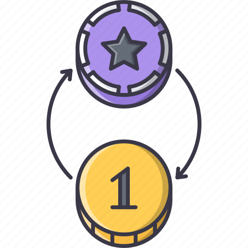 casino, chips, exchange, fun, game, money, party icon