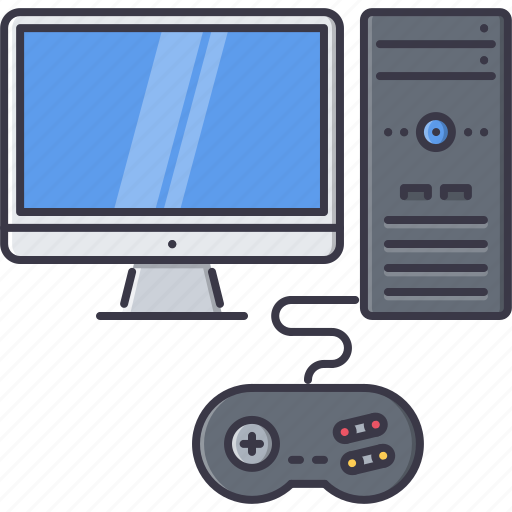 computer, fun, game, gamepad, monitor, party, video icon