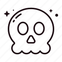 skull, halloween, skeleton, horror, spooky, death, bone