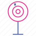 archery, bullseye, dartboard, darts, outdoor game, sport, target icon