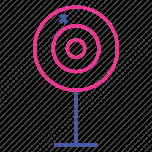 archery, bullseye, dartboard, darts, outdoor game, sport, target icon