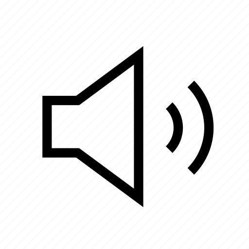 audio, on, sound, speaker, volume icon