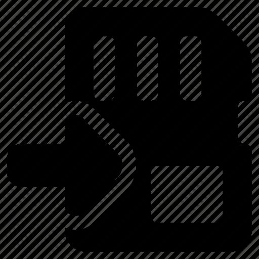 card, into, move, sd, storage icon