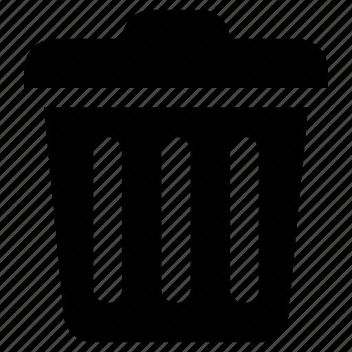 basket, bin, can, delete, trash icon