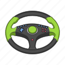 appliance, device, electronics, gadget, gaming, steering wheel, technology icon