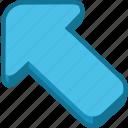 arrow, direction, location, navigation, orientation icon