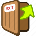 door, exit, logout, out icon