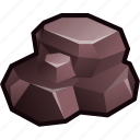 ore, rock, ruby, stone icon