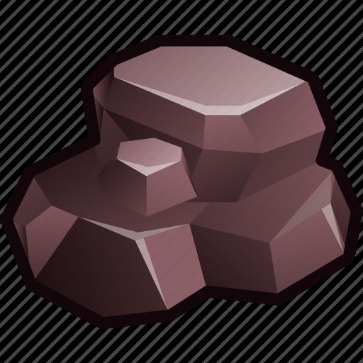 ore, rock, ruby, stone icon