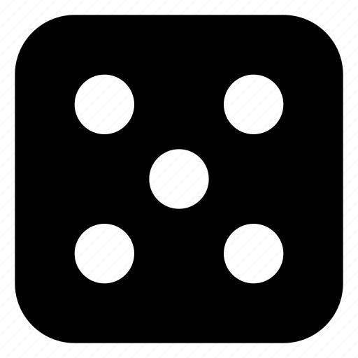 dice, five icon