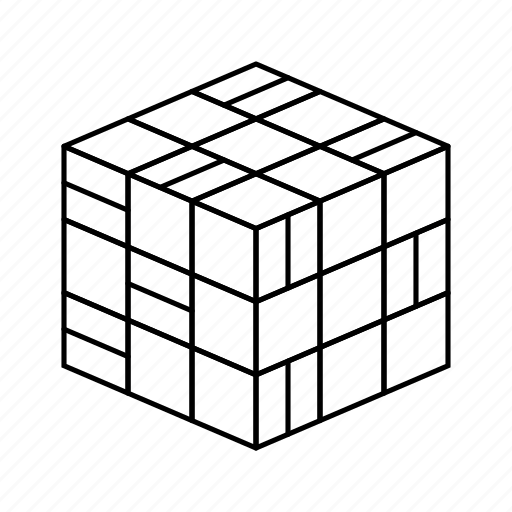 cube, cubic, inspiration, rubik, three icon