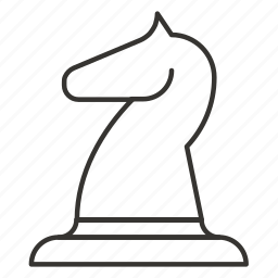 animal, chess, figure, game, horse, piece, strategy icon