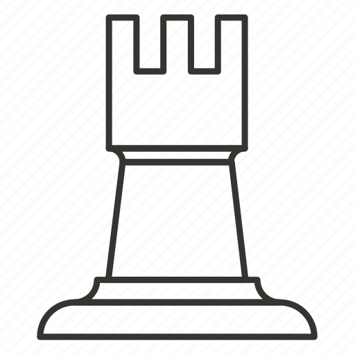 chess, game, piece, rook, strategy, tower icon