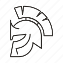 greek, helmet, sparta, spartan, warrior icon