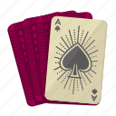 ace, ace of spades, cards, deck, games, playing cards, poker icon