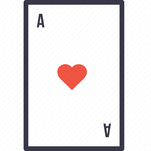 ace, card, casino, gamble, game, heart, play icon