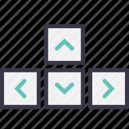 arrows, controller, game, gamepad, joypad, key, keys icon