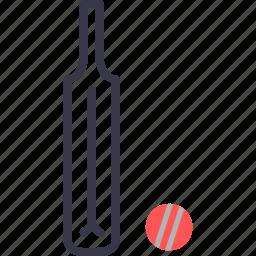 ball, bat, batsman, cricket, equipment, game, sports icon