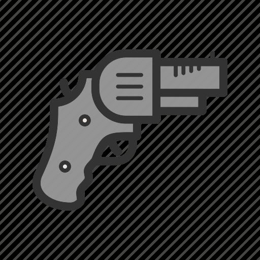 danger, gun, handgun, pistol, power, revolver, weapon icon