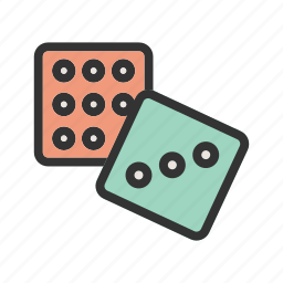 casino, chance, dice, gambling, game, luck, rolling icon